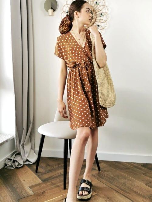 groszki czekoladowa sukienka mini