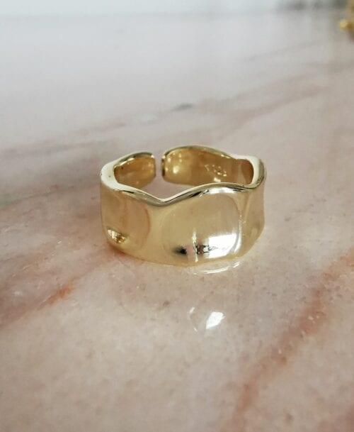 bubbagamp obraczka falista złota
