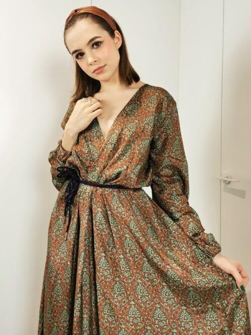 sukienka maxi z wiskozy