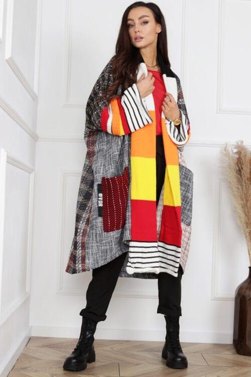 płaszcz włoski patchworkowy