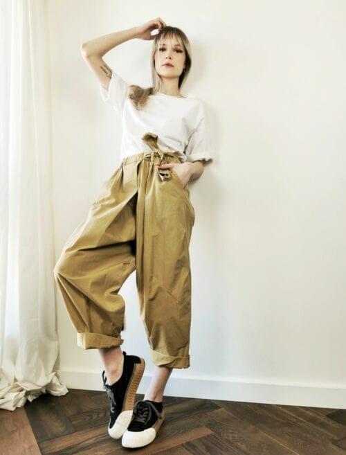 szerokie spodnie Wendy Trendy kamel