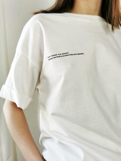 t-shirt 100% bawełna biały