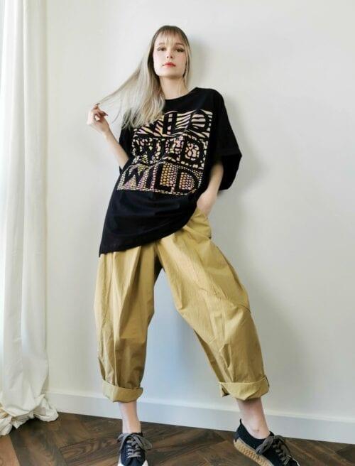 spodnie wendy trensy beżowe szerokie