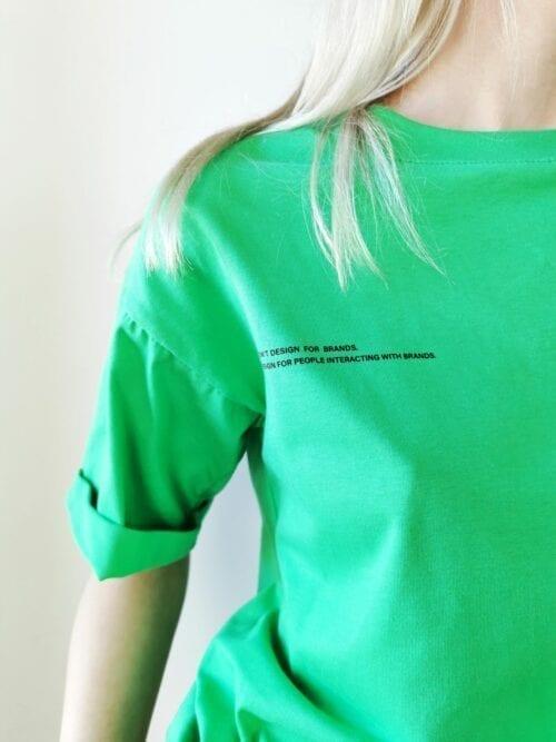 t-shirt 100% bawełna zielony