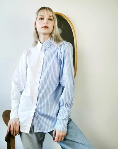 koszula klasyczna dwukolorowa w paseczki
