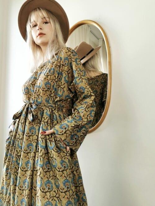 sukienka włoska bawełna długa