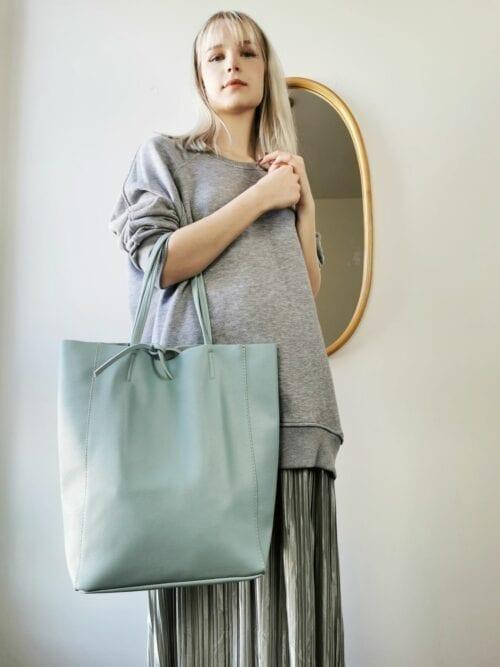 szoper błękitna torba