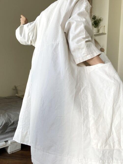 płaszcz bawełniany biały