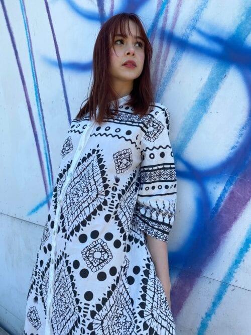 sukienka na lato bawełniana w azteckie wzory