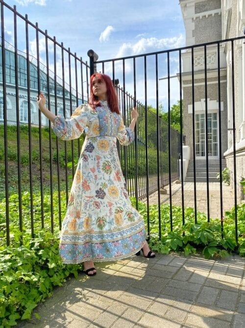 sukienka maxi w japońskim stylu