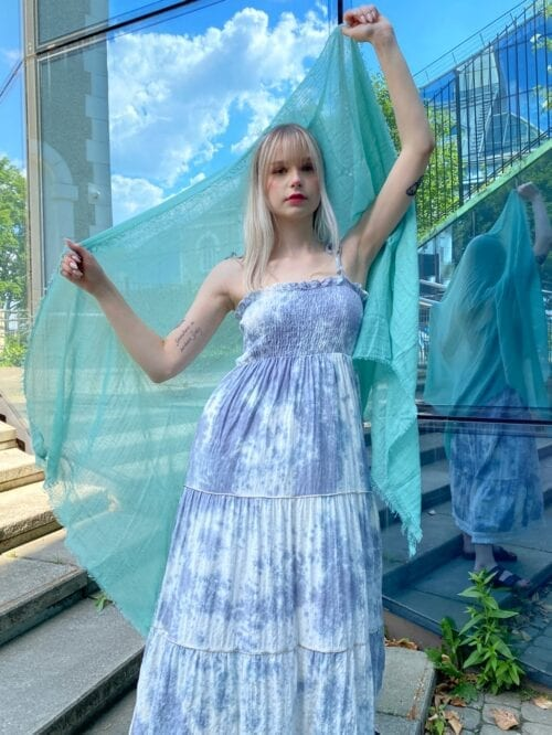 sukienka na ramiączka bawełniana maxi na lato