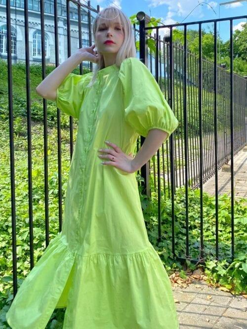 sukienka bawełniana na guziki letnia lemonka