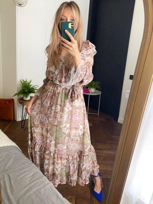 sukienka z koronką wizytowa glamour