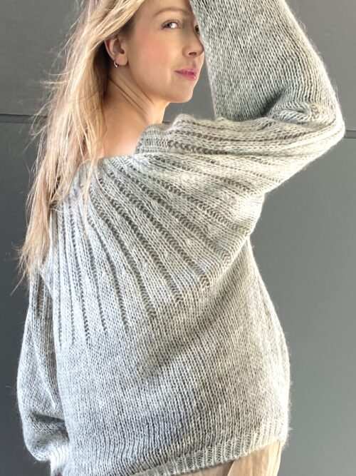 sweter ombre moherowy