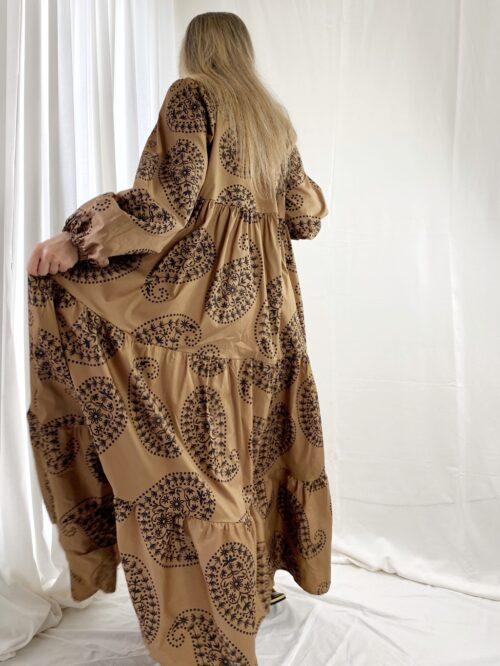 sukienka włoska over maxi boho style dla wysokiej