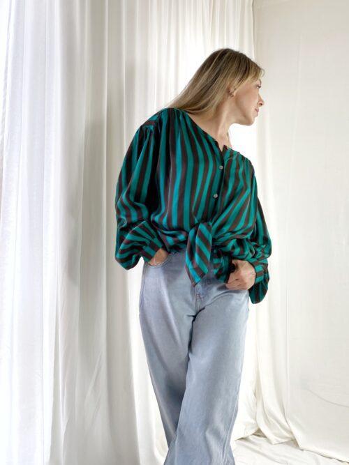 bluzka koszulowa z wiskozy na guziczki