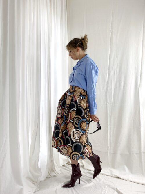 spódnica satynowa jesienna z tafty