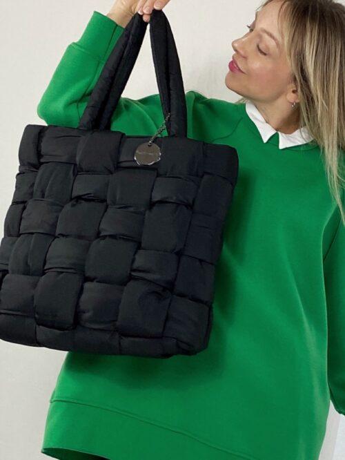 torba pikowana czarna włoska