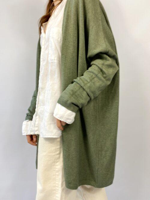 narzutka długa sweter khaki